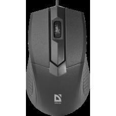 Проводная оптическая мышь Defender Optimum MB-270 черный,3 кнопки,1000 dpi