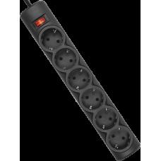 Сетевой фильтр Defender DFS 151 1,8 м, черный, 6 розеток