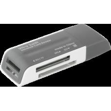 Универсальный картридер Defender Ultra Swift USB 2.0, 4 слота