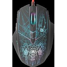 Проводная игровая мышь Defender Doom Fighter GM-260L оптика,6кнопок,800-3200dpi