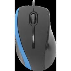 Проводная оптическая мышь Defender MM-340 черный+синий,3 кнопки,1000 dpi
