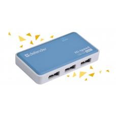 Универсальный USB разветвитель Defender Quadro Power USB2.0, 4порта, блок питания2A