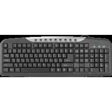 Проводная клавиатура Defender #1 HM-830 RU,черный,полноразмерная