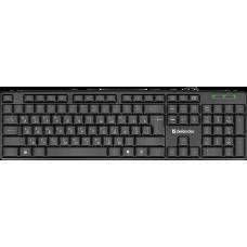 Проводная клавиатура Defender Element HB-520 USB UKR,черный,полноразмерная