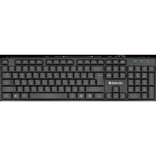 Проводная клавиатура Defender Element HB-520 USB RU,черный,полноразмерная