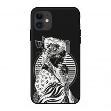 Силиконовый чехол Softmag Case Gaysha white для iPhone 11