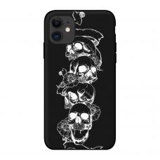Силиконовый чехол Softmag Case Черепа для iPhone 11