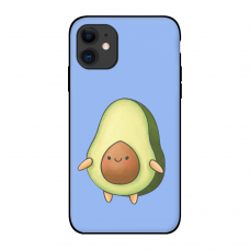 Силиконовый чехол Softmag Case Авокадо фиолет для iPhone 11