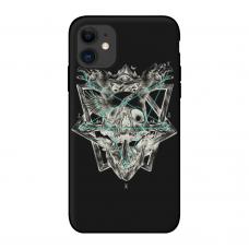 Силиконовый чехол Softmag Case Череп и птица для iPhone 11