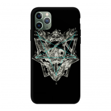 Силиконовый чехол Softmag Case Череп и птица для iPhone 11 Pro