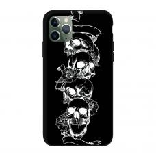 Силиконовый чехол Softmag Case Черепа для iPhone 11 Pro Max