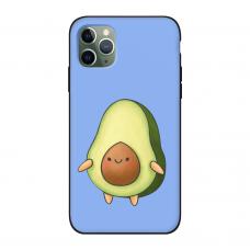 Силиконовый чехол Softmag Case Авокадо фиолет для iPhone 11 Pro Max