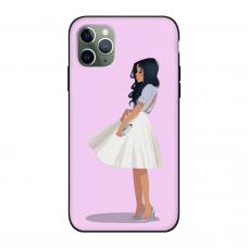 Силиконовый чехол Softmag Case Девушка для iPhone 11 Pro Max