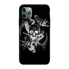 Силиконовый чехол Softmag Case Череп арт для iPhone 11 Pro Max