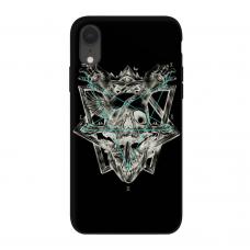 Силиконовый чехол Softmag Case Череп и птица для iPhone Xr