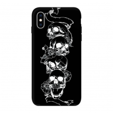 Силиконовый чехол Softmag Case Черепа для iPhone X/Xs