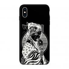 Силиконовый чехол Softmag Case Gaysha white для iPhone Xs Max