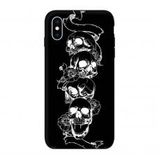 Силиконовый чехол Softmag Case Черепа для iPhone Xs Max