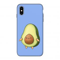 Силиконовый чехол Softmag Case Авокадо фиолет для iPhone Xs Max