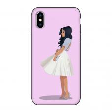 Силиконовый чехол Softmag Case Девушка для iPhone Xs Max