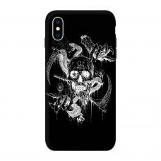 Силиконовый чехол Softmag Case Череп арт для iPhone Xs Max