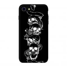 Силиконовый чехол Softmag Case Черепа для iPhone 7/8