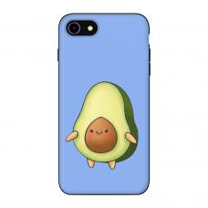 Силиконовый чехол Softmag Case Авокадо фиолет для iPhone 7/8