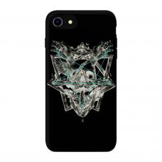 Силиконовый чехол Softmag Case Череп и птица для iPhone 7/8