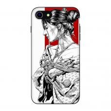 Силиконовый чехол Softmag Case Гейша для iPhone 7/8
