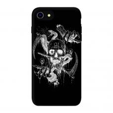 Силиконовый чехол Softmag Case Череп арт для iPhone 7/8