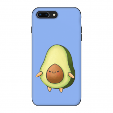 Силиконовый чехол Softmag Case Авокадо фиолет для iPhone 7 Plus / 8 Plus