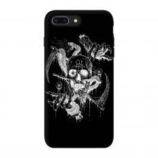 Силиконовый чехол Softmag Case Череп арт для iPhone 7 Plus / 8 Plus