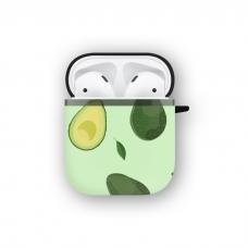 Силиконовый чехол Softmag Case Зеленый авокадо для AirPods 1/2