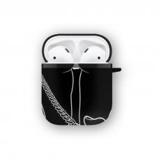 Силиконовый чехол Softmag Case Девушка Арт для AirPods 1/2