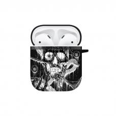 Силиконовый чехол Softmag Case Череп арт для AirPods 1/2