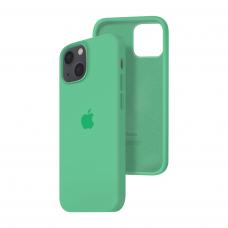 Силиконовый чехол c закрытым низом Apple Silicone Case для iPhone 13 Spear Mint