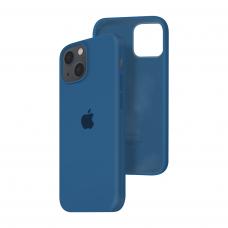 Силиконовый чехол c закрытым низом Apple Silicone Case для iPhone 13 Cobalt Blue
