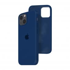 Силиконовый чехол c закрытым низом Apple Silicone Case для iPhone 13 Deep Navy
