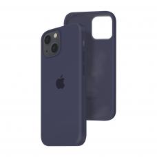 Силиконовый чехол c закрытым низом Apple Silicone Case для iPhone 13 Midnight Blue