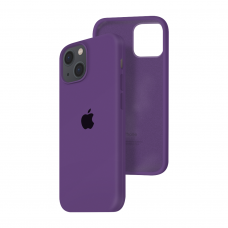Силиконовый чехол c закрытым низом Apple Silicone Case для iPhone 13 Purple