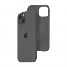 Силиконовый чехол c закрытым низом Apple Silicone Case для iPhone 13 Charcoal Gray