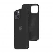 Силиконовый чехол c закрытым низом Apple Silicone Case для iPhone 13 Black