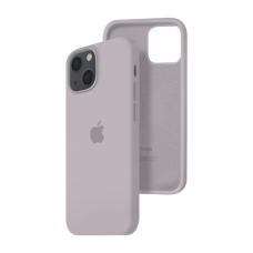 Силиконовый чехол c закрытым низом Apple Silicone Case для iPhone 13 Lavender