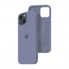 Силиконовый чехол c закрытым низом Apple Silicone Case для iPhone 13 Lavender Gray