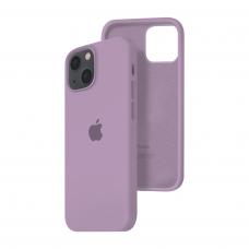 Силиконовый чехол c закрытым низом Apple Silicone Case для iPhone 13 Blue Berry