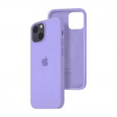 Силиконовый чехол c закрытым низом Apple Silicone Case для iPhone 13 Violet
