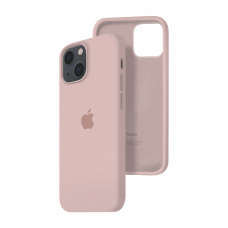 Силиконовый чехол c закрытым низом Apple Silicone Case для iPhone 13 Pink Sand