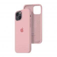 Силиконовый чехол c закрытым низом Apple Silicone Case для iPhone 13 Light Pink