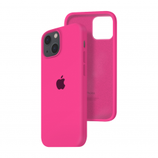 Силиконовый чехол c закрытым низом Apple Silicone Case для iPhone 13 Barbie Pink