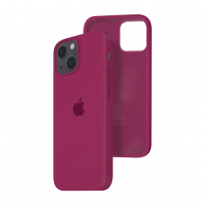 Силиконовый чехол c закрытым низом Apple Silicone Case для iPhone 13 Rose Red